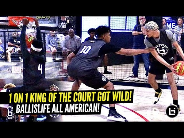 Ballislife 1 on 1 King of The Court Got CRAZY!! Hoodie Rio SHOCKS EVERYONE! Boogie Tre SNAP!!