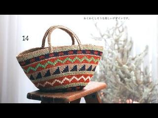 Три креативные сумки крючком с подбором схем из японского журнала🍓 crochet pattern.