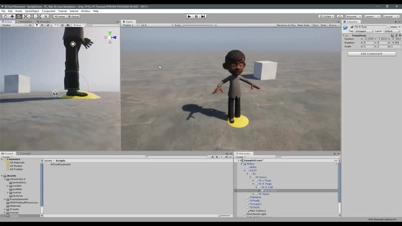 REALISTIC Foot Placement Using IK in Unity