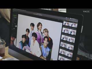 Behind the Scenes Video of BTS Photoshoot for VOGUE JAPAN