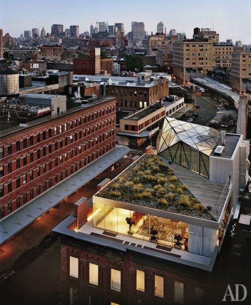 Вид на Манхэттен из пентхауса Дианы фон Фюрстенберг.