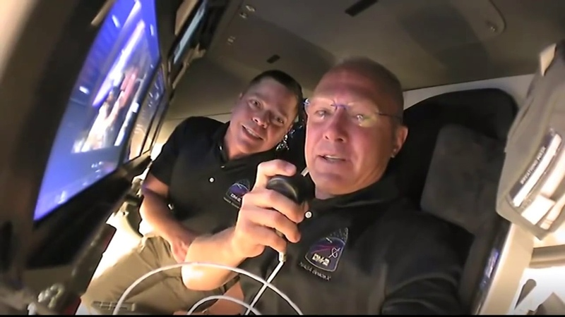 Tour from Space Inside the SpaceX Crew Dragon Spacecraft on Its Way to the Space Station