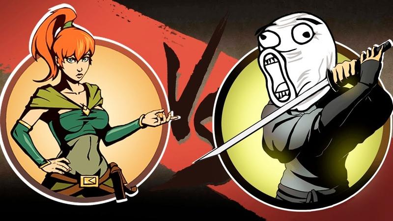 МЭЙ против САМОГО ТУПОГО ТЕЛОХРАНИТЕЛЬ В Shadow Fight 2 ФаниГеймсТВ 3