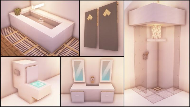 Minecraft 40 Bathroom Build Hacks and Ideas