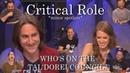Who's on the Tal'Dorei Council Critical Role C2E85