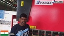 Indian customer's feedback about HARSLE Team, Service, Press Brake and shearing machine