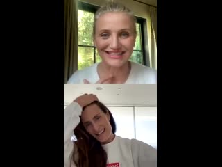 Cameron Diaz live on instagram