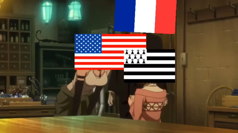 Бретань , China да USA   meme
