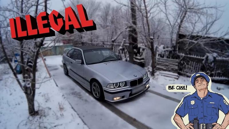 BMW E36 winter drift 2019