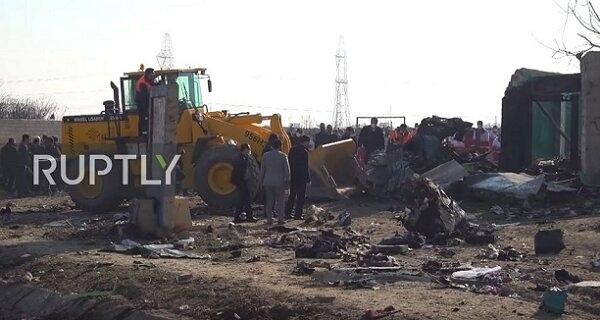 В Ірані заперечують розчищення місця катастрофи бульдозерами при тому, що такі кадри показало навіть місцеве телебачення - Цензор.НЕТ 6111