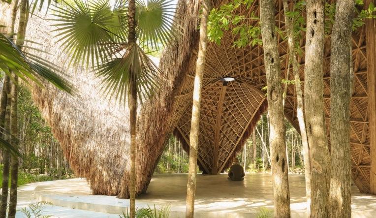 Бамбуковый павильон в джунглях Мексики