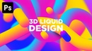 How to Create 3D Fluid Gradientd | Photoshop Tutorial