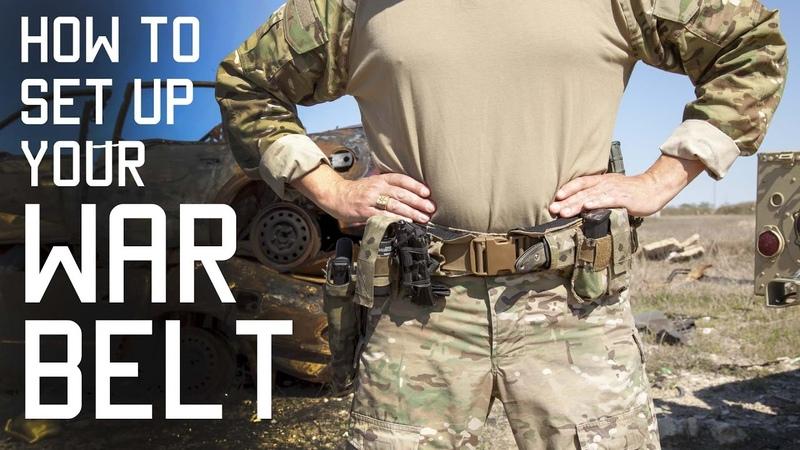 How To Set Up Your WAR BELT DUTY BELT SF Assaulter Gear Tactical Rifleman