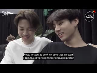 [rus sub][bangtan bomb] the secret of bts' beard