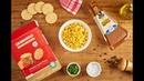 Crocante de Crackers Granarolo com Creme de Milho e Parmigiano