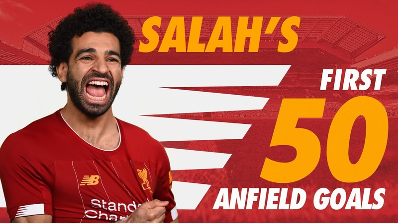Mo Salah's first 50 Anfield goals for Liverpool