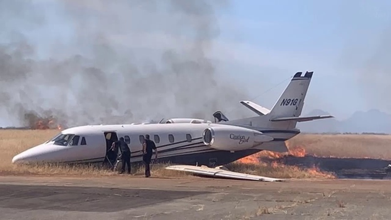 N91GY Cessna Citation XL Oroville Airport 21 August 2019