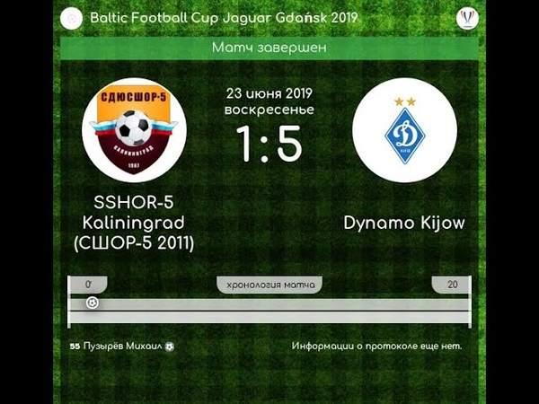 Baltic Football Cup. Gdansk 22-23 june 2019. SSHOR-5 - Dinamo Kiev 1-5