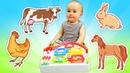 Animales de juguetes. Vídeos educativos para bebés.