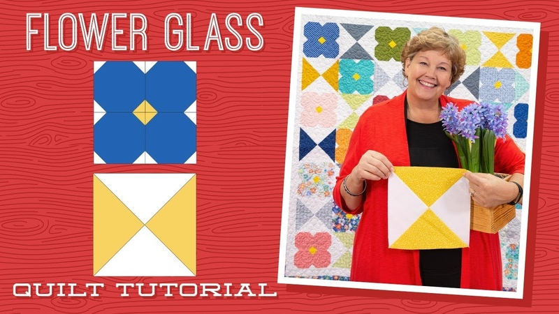 Make a Flower Glass Quilt with Jenny Doan of Missouri Star Video Tutorial