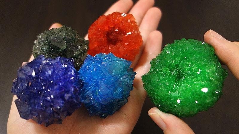 명반 백반 으로 크리스탈 만들기 Alum Crystals