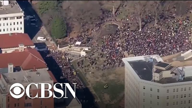 Thousands surround Virginia State Capitol Building to protest new gun control legislation