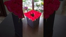 Как собрать букет в коробку. создание букета в шялпной коробке Цветы. Розы. Букет в коробке.