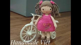 Hướng dẫn móc búp bê Zoe  (Phần 1) - How to crochet a cute doll. (part 1)