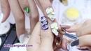 Cách vẽ cọ nổi mẫu nail Hoa Trắng siêu cute Học nail KellyPang Nail