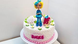 Тортик для мамы и для доченьки (крем БЗК). /Cake for mom and daughter (protein custard)