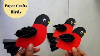 DIY Easy Paper Craft Bird / Paper Crafts for Kids/ Craft Paper Ideas By Aloha Crafts