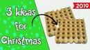 3 Christmas Ideas 2019 with egg cartons Ecobrisa DIY