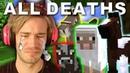 Every Major Animal Death In PewDiePie's Minecraft Series JÖERGEN WATER SHEEP BOAT COW