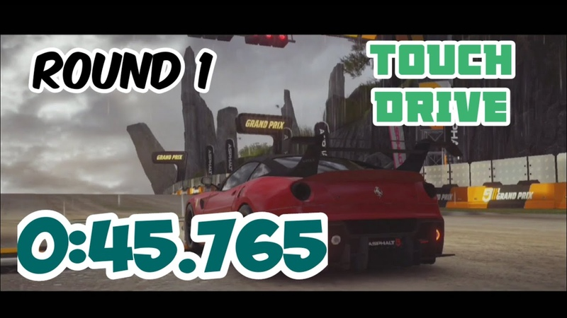 Asphalt 9 Touch Drive Ferrari 599XX EVO 1* Grand Prix Round 1 Light House 0 45 765