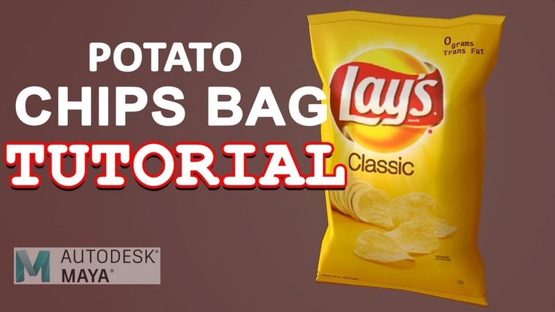 Autodesk Maya 2018 Tutorial - Easy Potato Chips Bag Modeling