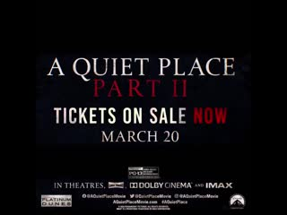 Experience the terror of AQuietPlace Part II early at the A Quiet Place Double Feature, on