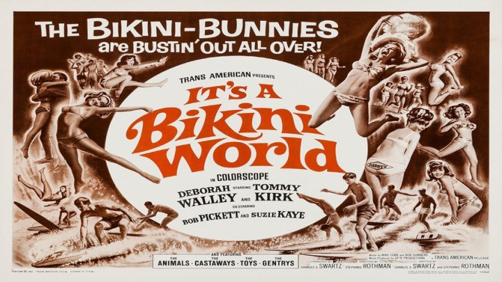 It's a Bikini World 👙🌎 starring Disney Alumni Tommy Kirk and Deborah Walley