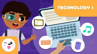 Computer - Vocabulary for Kids - Laptop, monitor, mouse, speakers, webcam, microphone...