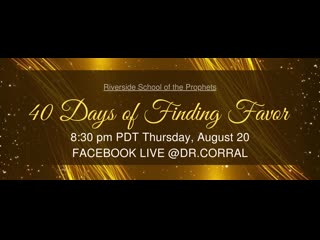 Dr. Michelle Corral 40 Days of Finding Favor