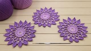 Вязание крючком КРУГЛЫЙ МОТИВ для ирландского кружева МАСТЕР-КЛАСС Crochet Flower Motif