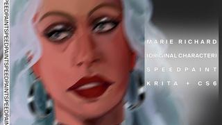 KRITA PORTRAIT SPEEDPAINT | 3 HOURS | MARIE RICHARD (OC)