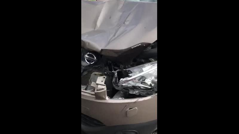 Авария без повреждения фаркоп и запаска помогли