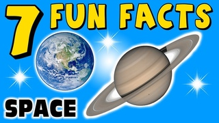 7 FUN FACTS ABOUT SPACE! PLANET FACTS FOR KIDS! Stars! Saturn! Learning Colors! Funny! Sock Puppet!