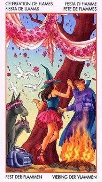 Таро Юных Ведьм. Младшие Арканы. Факелы ILJiUEVTCKA