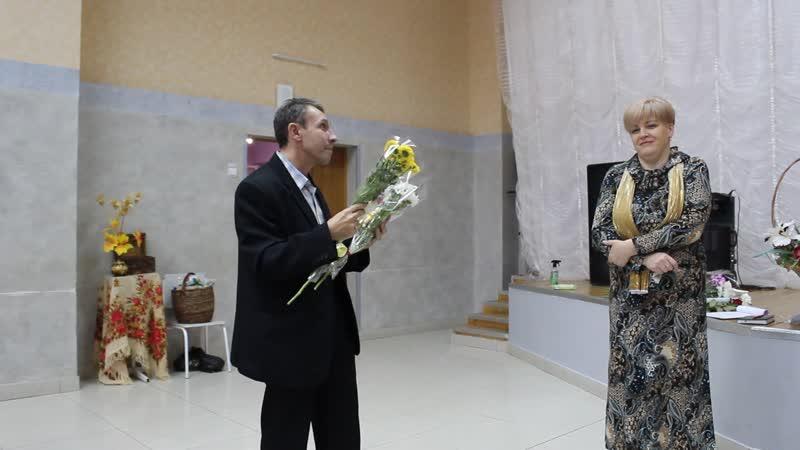 Творческий вечер Ольги Чудиновой и Марины Решетниковой Часть 14 Поздравление Андрея Бурдина