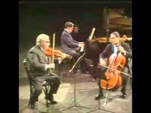 Istomin Stern Rose play Schubert Trio No. 1 in B flat Op. 99