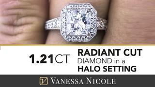 RADIANT CUT ENGAGEMENT RING  |  Radiant Cut Diamond Ring For Ayla Kell