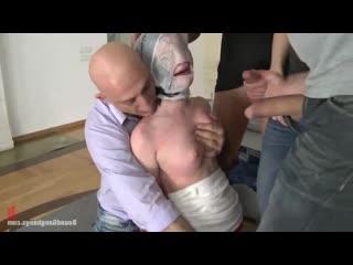 Rita Bound с пакетом на голове GangBangs hardcore   [BDSM, porno, Sex, kinky, hard, rough, бдсм, секс, порно, хард, жестко]