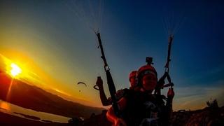 Полёты на закате с Олей в тандеме Приморье