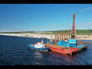 Визуализация этапов строительства многопрофильного терминала LUGAPORT в порту Усть-Луга